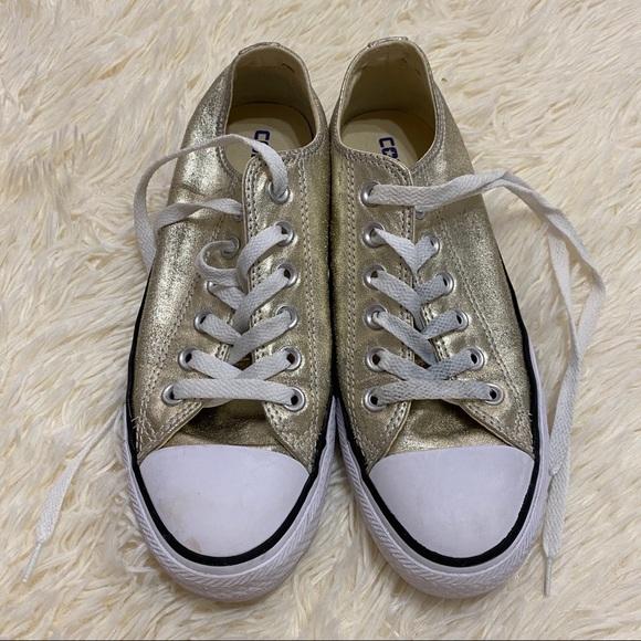 Chuck Taylor Metallic Gold Sneakers